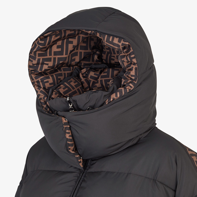 FENDI JACKET - Black nylon down jacket - view 3 detail