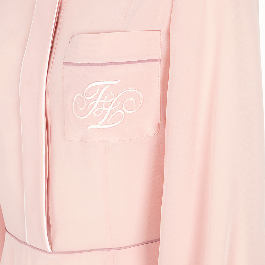 FENDI DRESS - Pink silk dress - view 3 detail