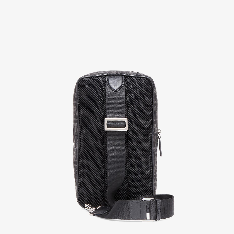 FENDI ONE-SHOULDER TRAVEL BACKPACK - FF jacquard fabric backpack - view 3 detail