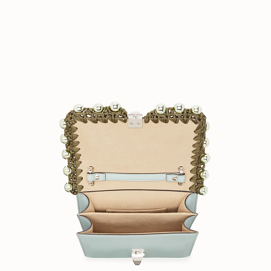 FENDI KAN I SMALL - Light blue leather mini-bag - view 4 detail