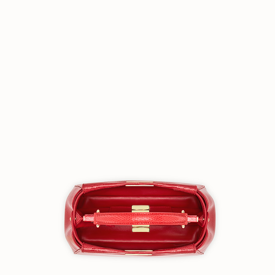 FENDI PEEKABOO MINI - Red lizard bag - view 4 detail