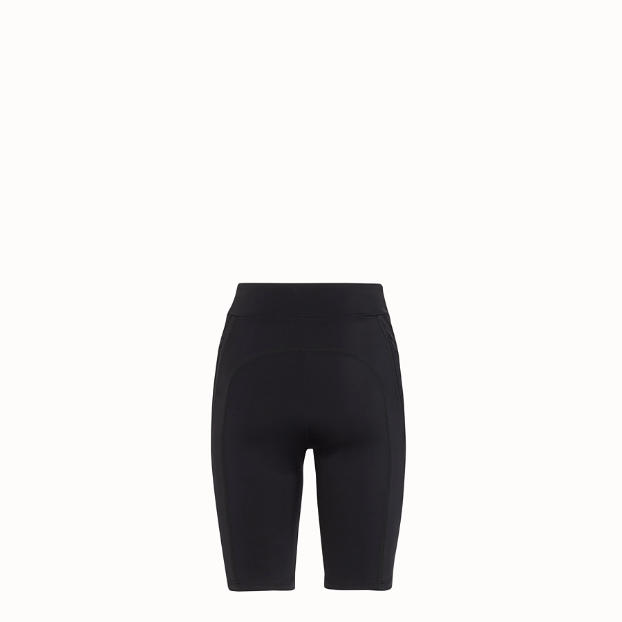 FENDI CYCLIST BERMUDAS - Black lycra shorts - view 2 detail