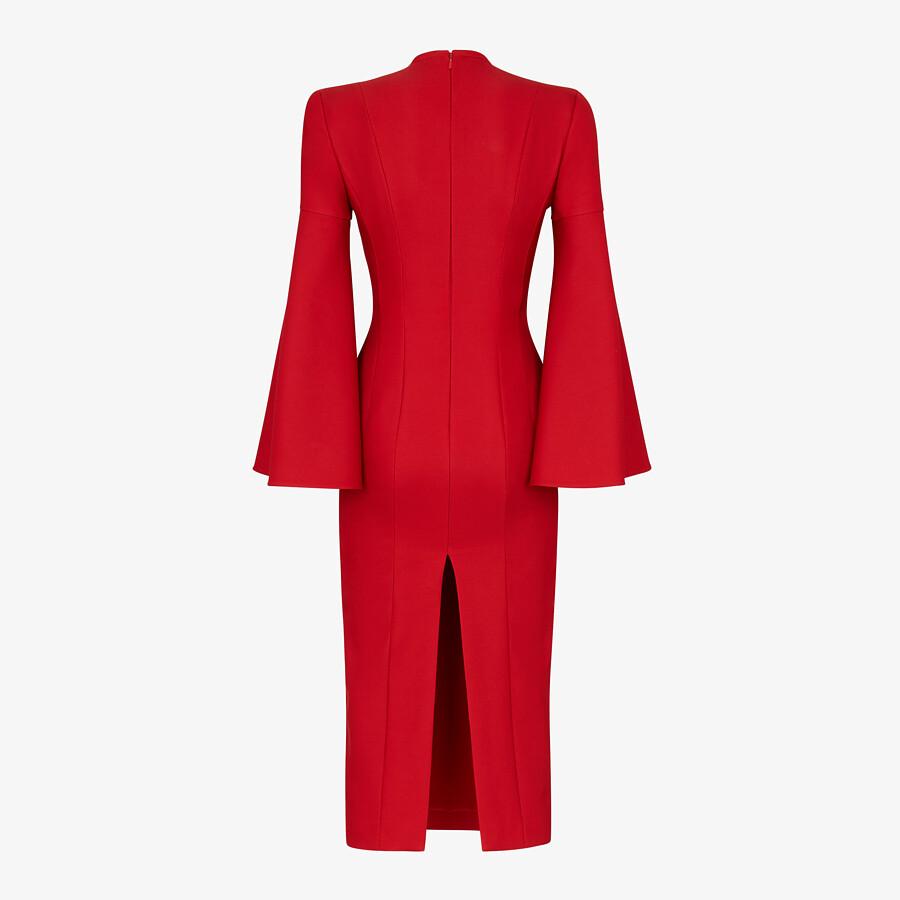 FENDI DRESS - Red silk and wool dress - view 2 detail