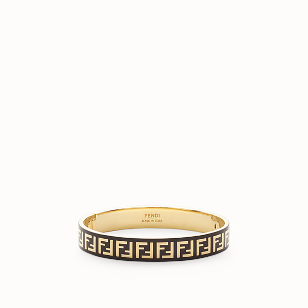 FENDI FF BRACELET - Gold and black coloured bracelet - view 1 small thumbnail