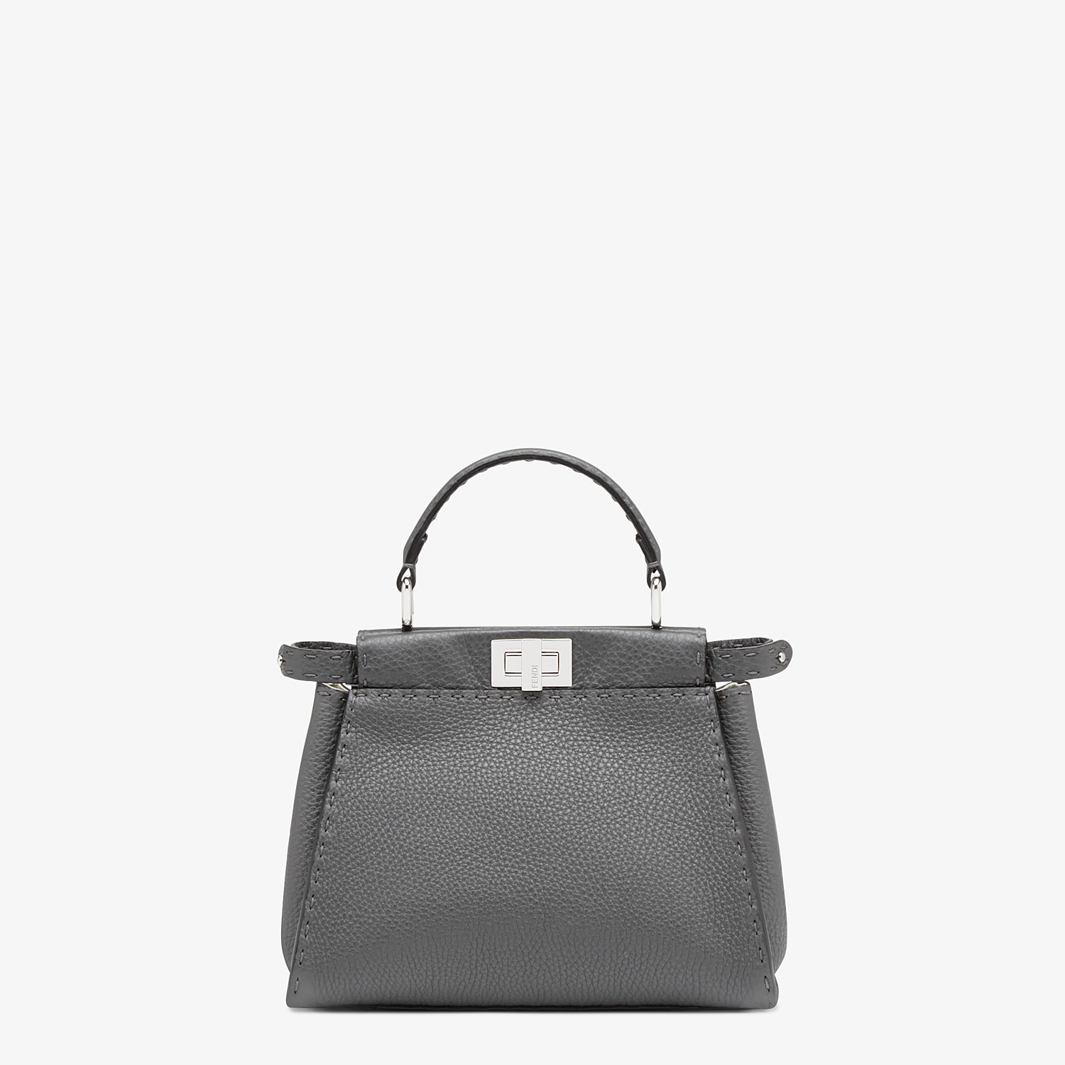 FENDI PEEKABOO ICONIC MINI - Asphalt gray Selleria bag - view 1 detail