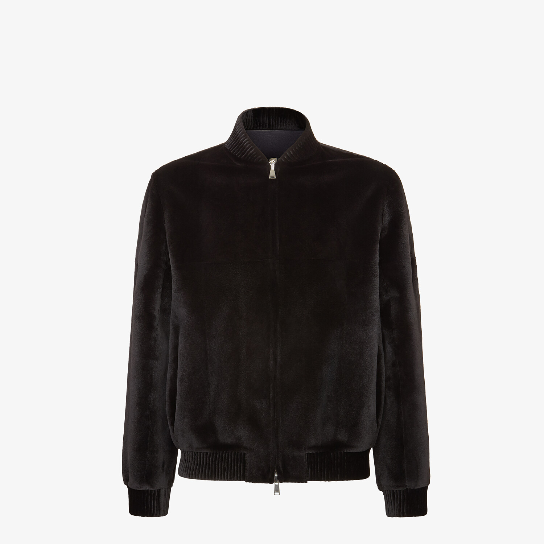 FENDI BOMBER JACKET - Black mink jacket - view 1 detail