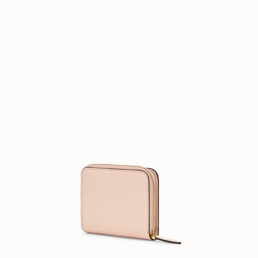 FENDI ZIP AROUND MEDIA - Portafoglio in pelle rosa - vista 2 dettaglio