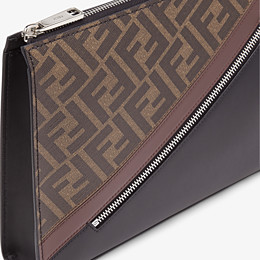 FENDI CLUTCH - Pochette aus Stoff in Braun - view 5 thumbnail