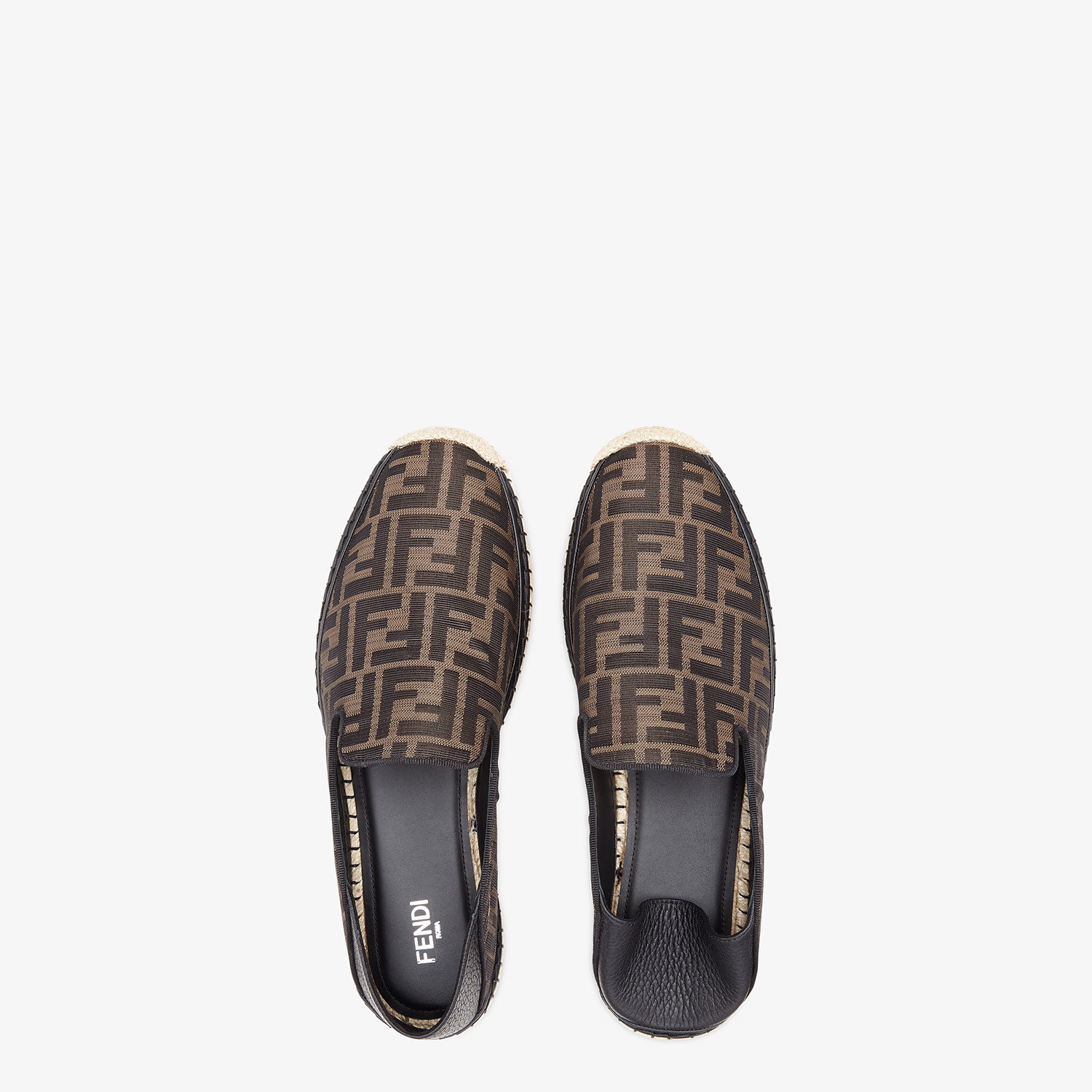 FENDI ESPADRILLES - Brown fabric espadrilles - view 4 detail