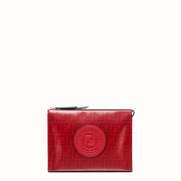 FENDI CLUTCH - Red fabric pochette - view 1 small thumbnail