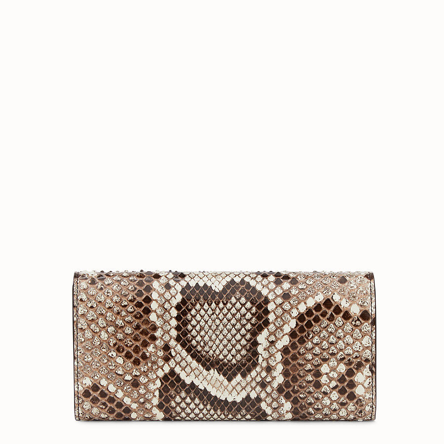 FENDI CONTINENTAL WITH CHAIN - Multicolour leather wallet with exotic details - view 3 detail