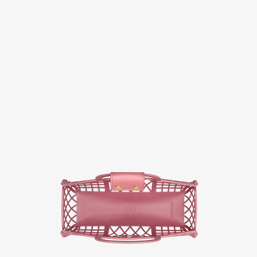 FENDI FENDI BASKET SMALL - Pink recycled plastic mini-bag - view 4 detail