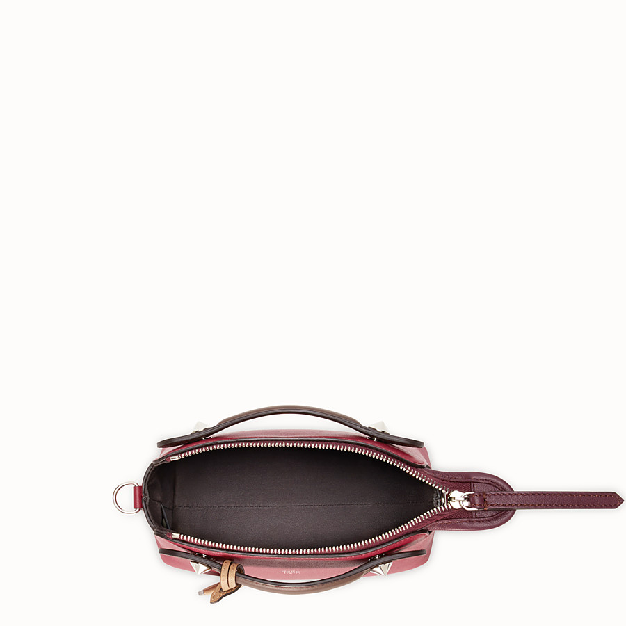 FENDI BY THE WAY MINI - Small red leather Boston bag - view 4 detail