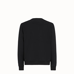 FENDI SWEATSHIRT - Black wool and cotton sweatshirt - view 2 thumbnail