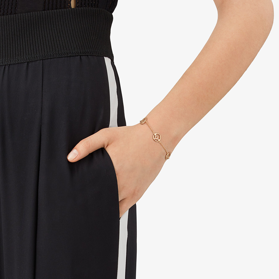 FENDI F IS FENDI ARMBAND - Goldfarbenes Metallarmband - view 2 detail