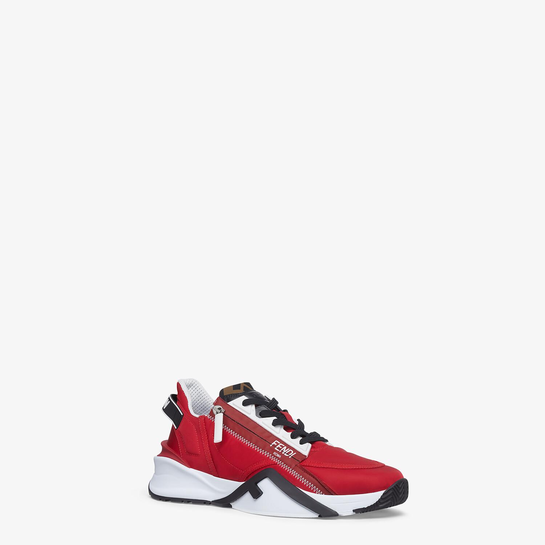 FENDI SNEAKERS - Red nylon low-tops - view 2 detail