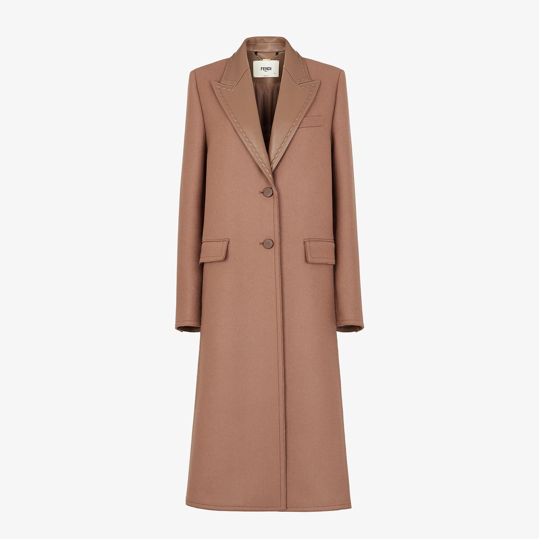 FENDI CAPPOTTO - Cappotto in lana marrone - vista 1 dettaglio