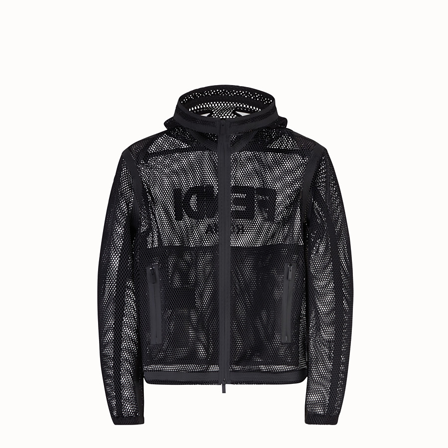 FENDI WINDBREAKER - Windbreaker in black tech fabric - view 1 detail