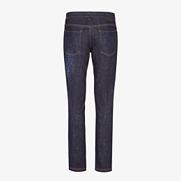 FENDI DENIM - Dark blue denim jeans - view 2 thumbnail