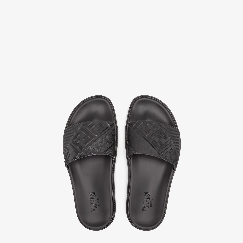 FENDI SLIDES - Black rubber slides - view 4 detail