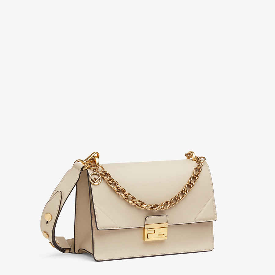 FENDI KAN U - Beige leather bag - view 3 detail