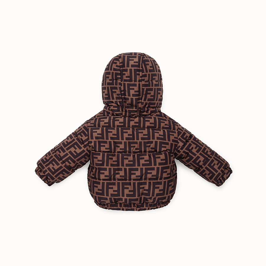 FENDI COAT - Red nylon down jacket - view 2 detail