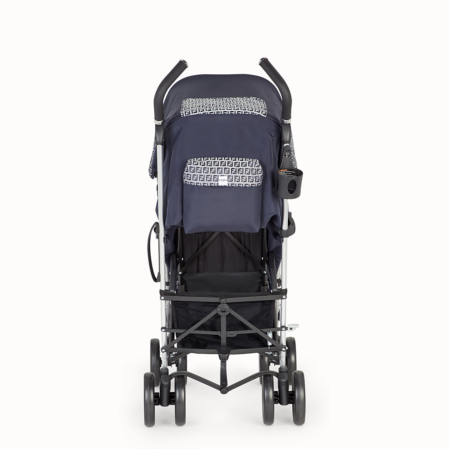 FENDI PUSHCHAIR - Pushchair in blue fireproof material with FF motif - view 5 detail
