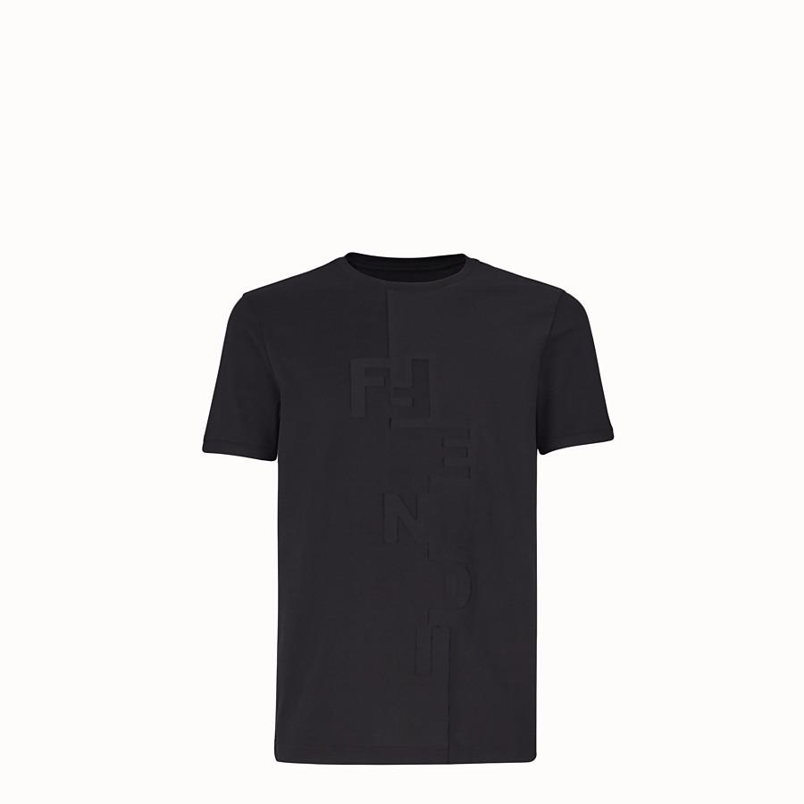 FENDI T-SHIRT - T-shirt in jersey nero - vista 1 dettaglio
