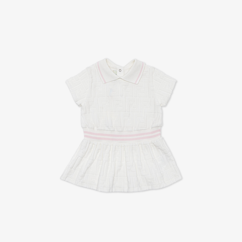 FENDI BABY DRESS - White chenille baby dress - view 1 detail