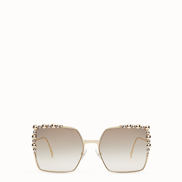 FENDI CAN EYE - Gold-colour sunglasses - view 1 small thumbnail