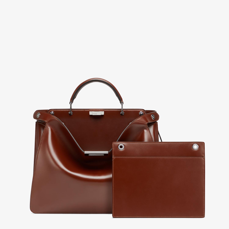 FENDI PEEKABOO ISEEU MEDIUM - Brown leather bag - view 2 detail