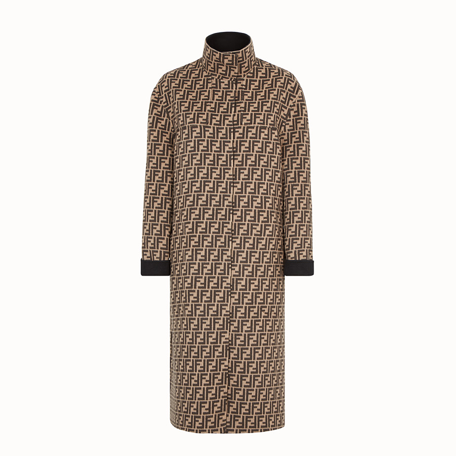 FENDI COAT - Multicolour wool coat - view 4 detail