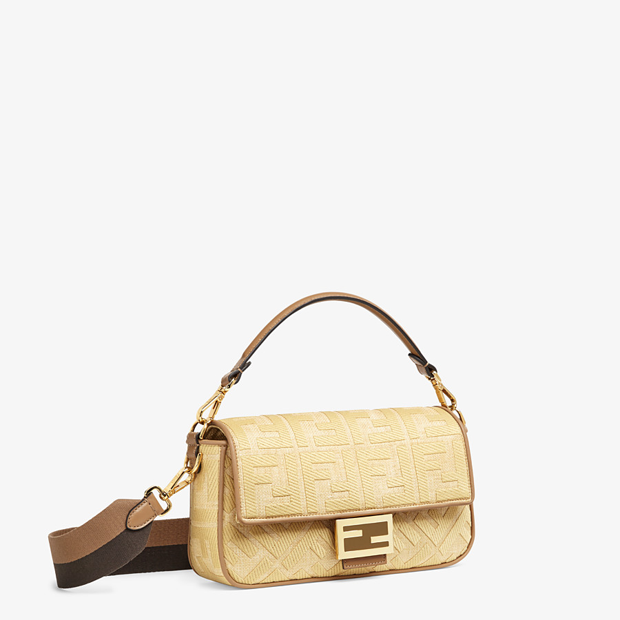 FENDI BAGUETTE - Natural straw bag - view 3 detail