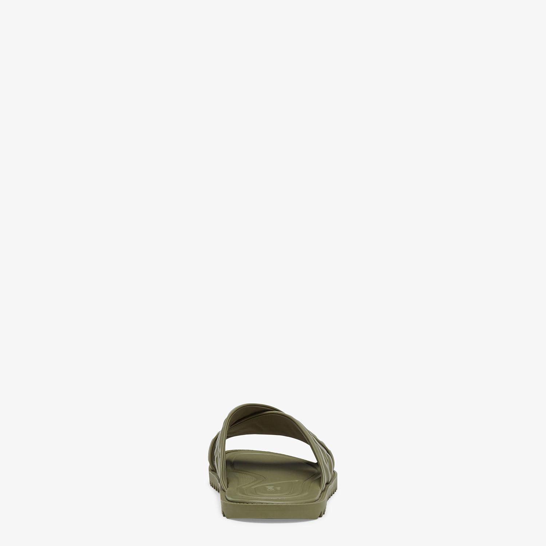 FENDI SANDALS - Green leather slides - view 3 detail