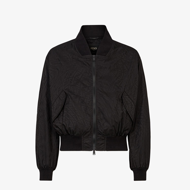 FENDI JACKET - Black tech fabric jacket - view 1 detail