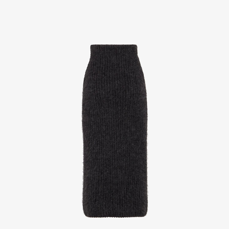 FENDI SKIRT - Grey mohair skirt - view 2 detail