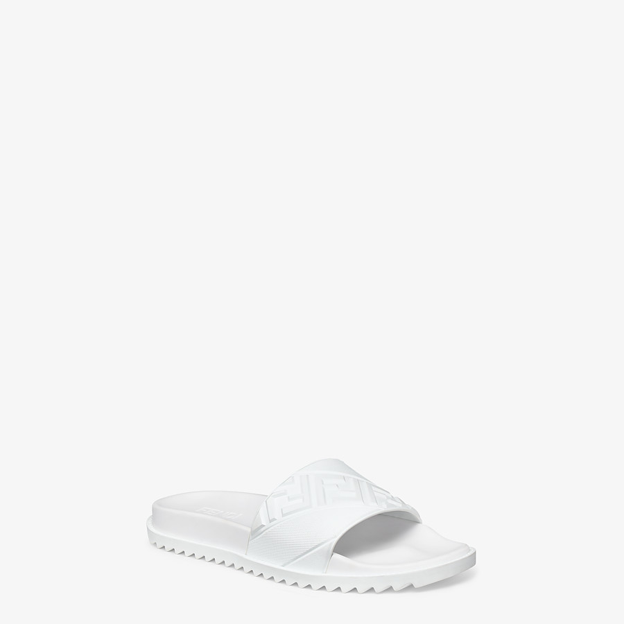 FENDI SLIDES - White rubber footbed - view 2 detail