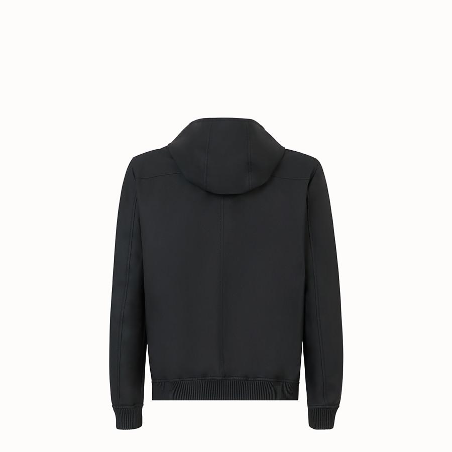FENDI BLOUSON JACKET - Black leather jacket - view 2 detail