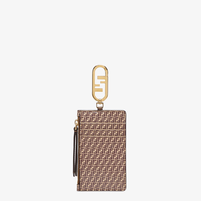 FENDI CARD HOLDER - Beige leather card holder - view 2 detail