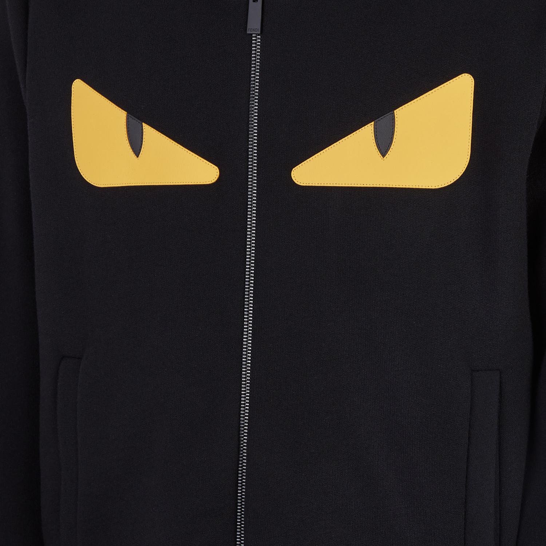 FENDI SWEATSHIRT - Black wool and cotton sweatshirt - view 3 detail