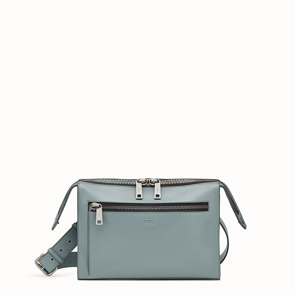 FENDI DOCUMENT HOLDER - Green leather bag - view 1 small thumbnail