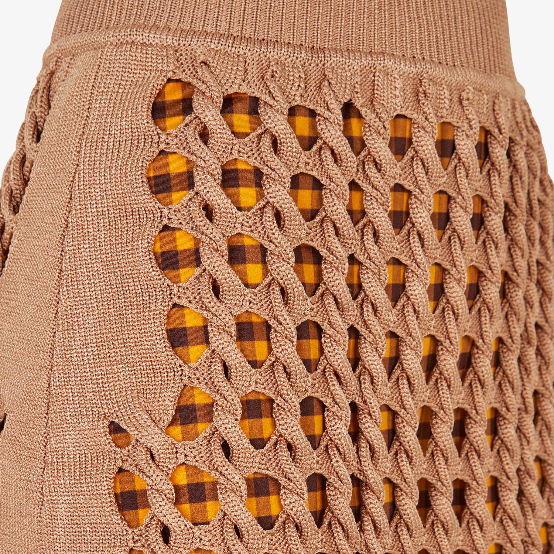 FENDI SKIRT - Beige jersey skirt - view 3 detail