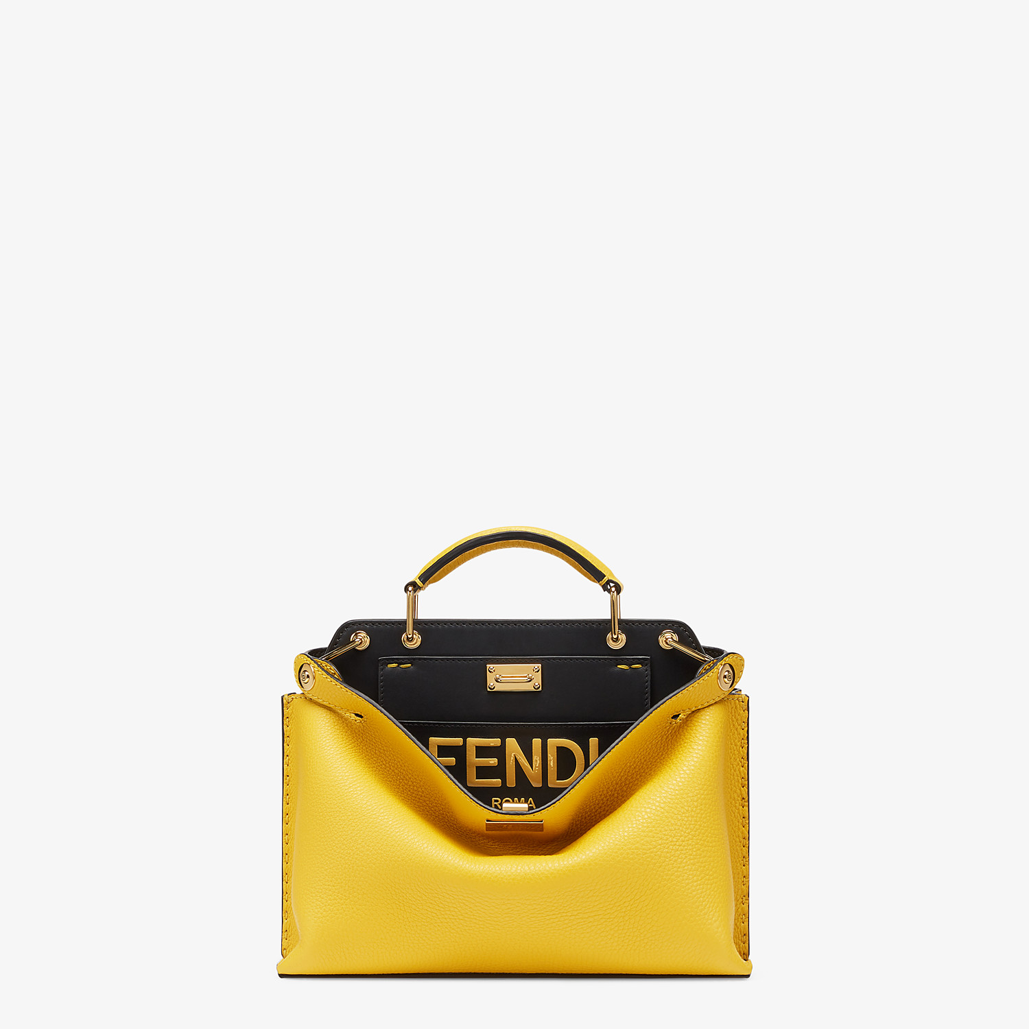 FENDI PEEKABOO ICONIC ESSENTIALLY - Yellow leather bag - view 1 detail