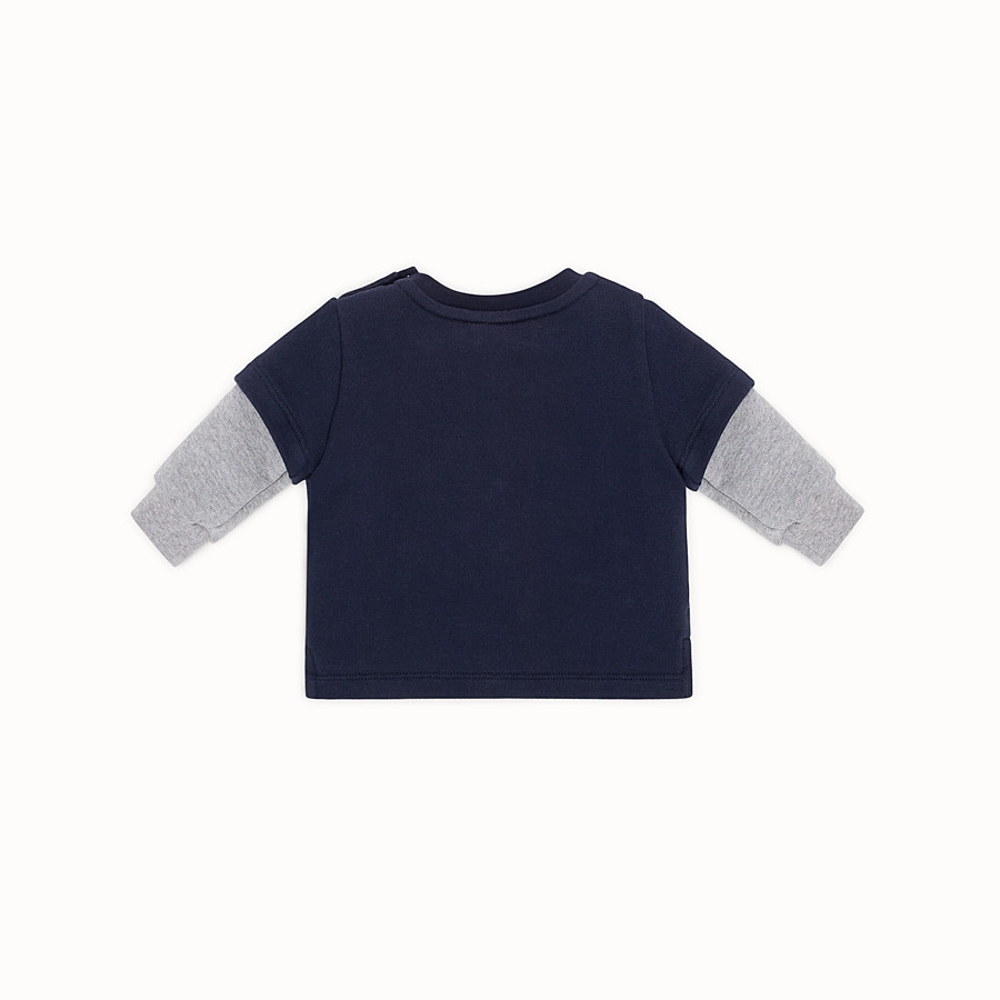 FENDI SWEATSHIRT - Blue cotton baby sweatshirt - view 2 detail