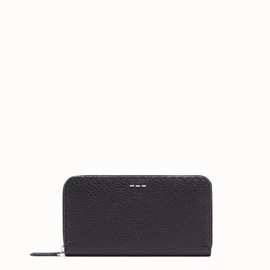 FENDI WALLET - slender wallet in black Roman leather - view 1 detail