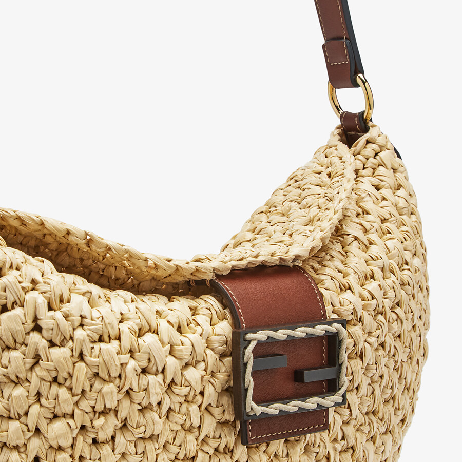 FENDI SMALL CROISSANT - Woven straw bag - view 6 detail