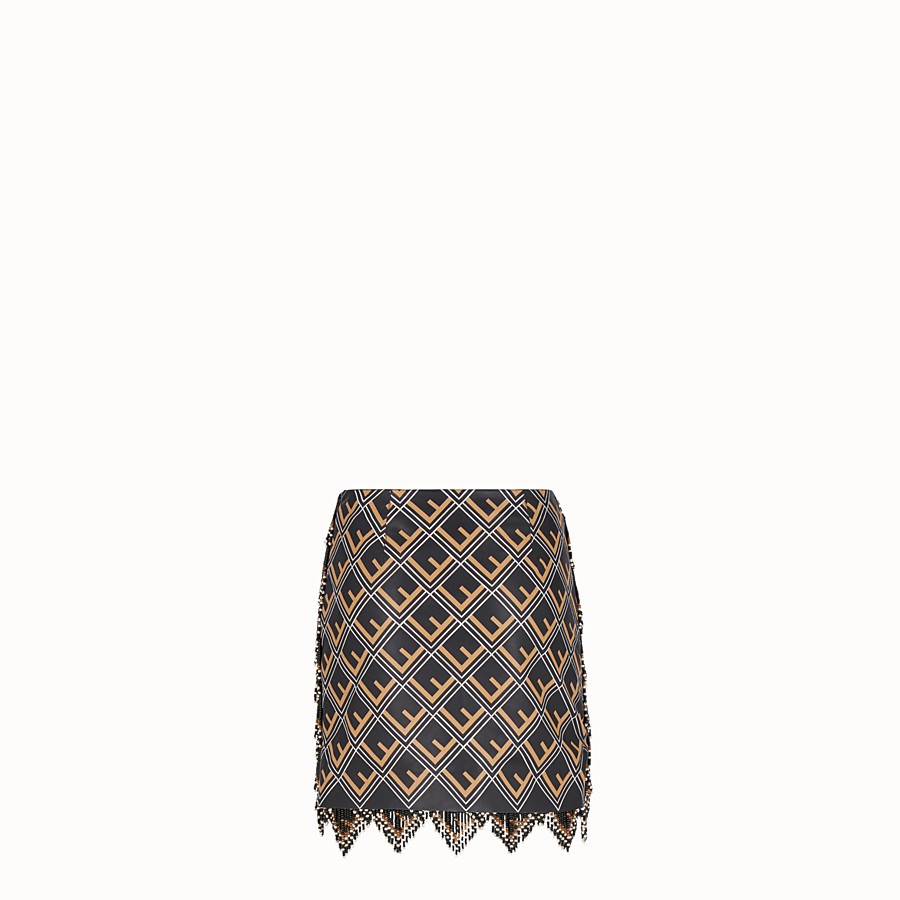 FENDI SKIRT - Black leather mini skirt - view 2 detail