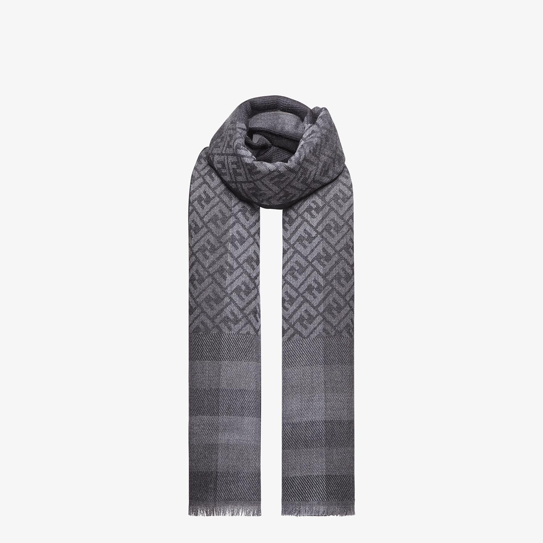FENDI STOLE - Black wool stole - view 2 detail
