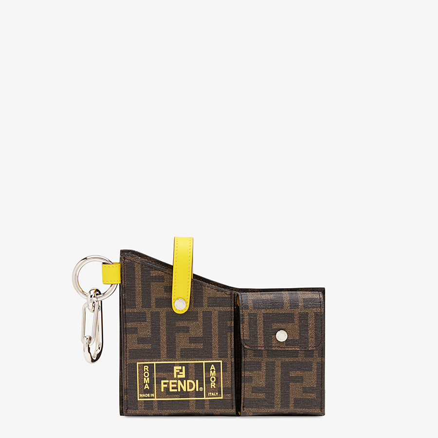 FENDI CHARM WITH POCKETS - Black PU charm - view 1 detail