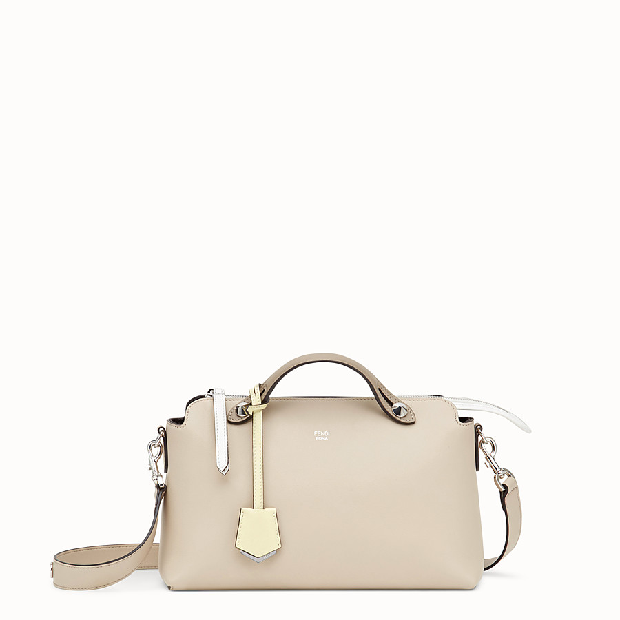 FENDI BY THE WAY REGULAR - Beige leather Boston bag - view 1 detail